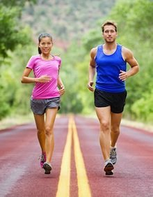 Couple Running In The Country